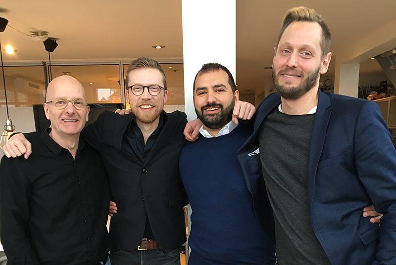 Självbildarna, Malmö Näringslivsgala, Måns nilsson med Jakob Svärd, Michel Massadakis och Harald Emgård